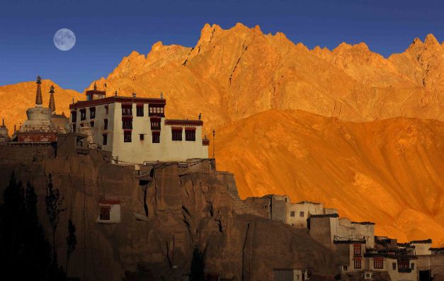 Captivating Ladakh at sunset