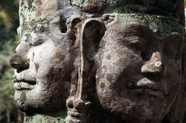 Buddha face, Bayon, Angkor, CAMBODIA