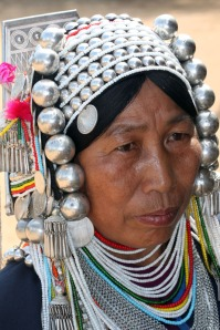 Silver headdress of the Akha Tribe, Golden Triangle, BURMA