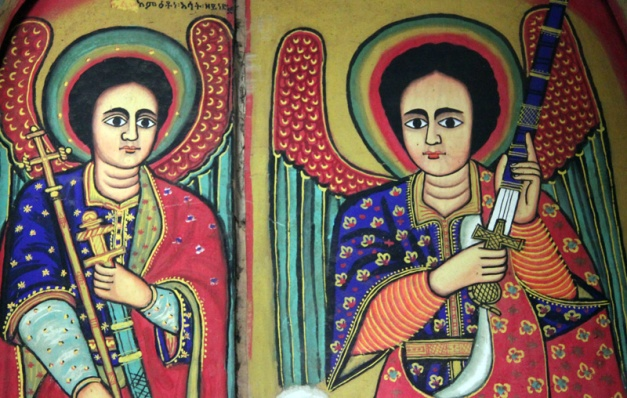 Colourful mural, Lake Tana Monastery