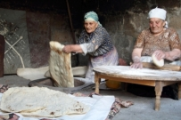 Lavash bread making