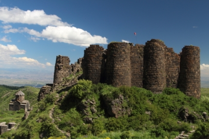 Atmospheric located medieval Amberd fortress