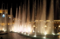 Music and light show in Yerevan's city centre