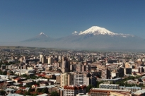 Yerevan and the majestic Mt Ararat