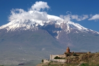 Khor Virap monastery against Ararat backdrop