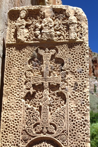 Finely carved cross at Noravank