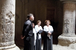 Choir at Geghard Monastery