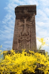 Stunningly carved cross at Haghphat Monastery