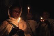 Easter vigil by candlelight, Lalibela