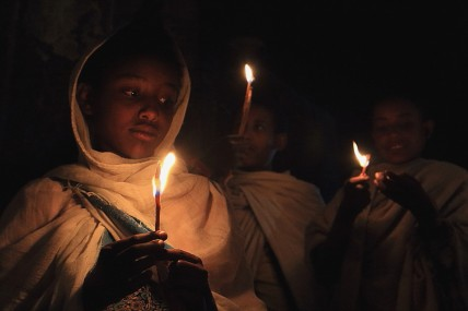 Easter vigil by candlelight, Lalibela