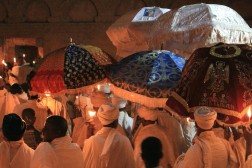Easter vigil procession at Lalibela