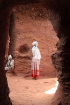 In prayer, Lalibela