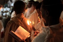 Prayers by candlelight, Easter vigil, Lalibela
