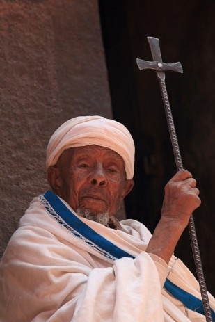 Wise old priest at Lalibela