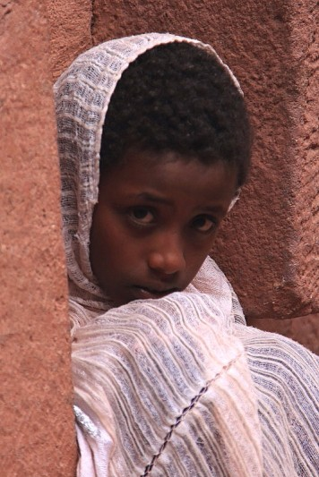 Young worshipper at Lalibela