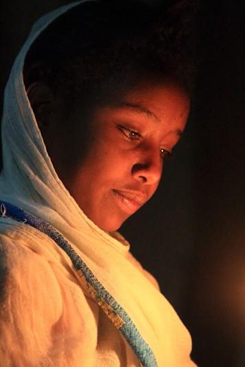 Young worshipper, Easter vigil, Lalibela
