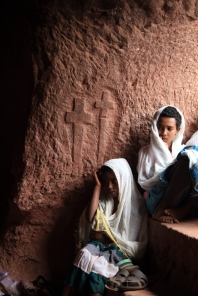 Young worshippers, Lalibela
